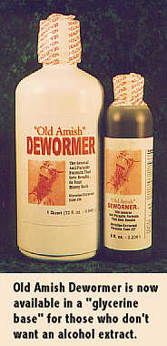 Old Amish Dewormer - Glycerine Extracted