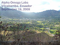 Vilcabamba - taken from Montesueños - Sept. 19, 2009